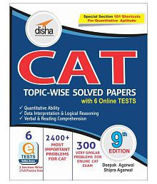 CAT Topic-wise Solved Papers with 6 Online Practice Sets (Paperback) English 9th Edition