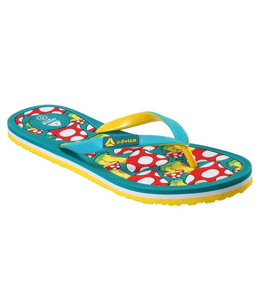 Advice Turquoise Slippers & Flip Flops