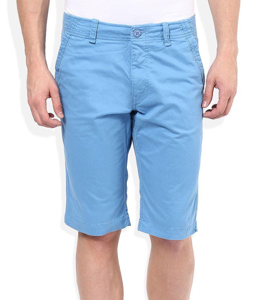 Breakbounce Blue Solids Shorts
