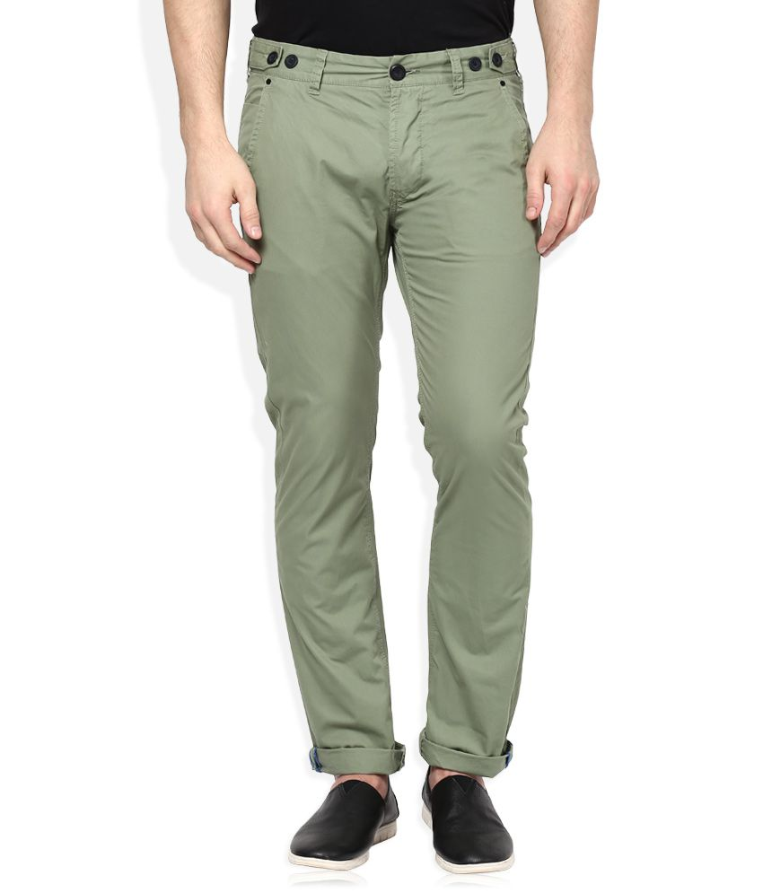Breakbounce Green Regular Fit Chinos