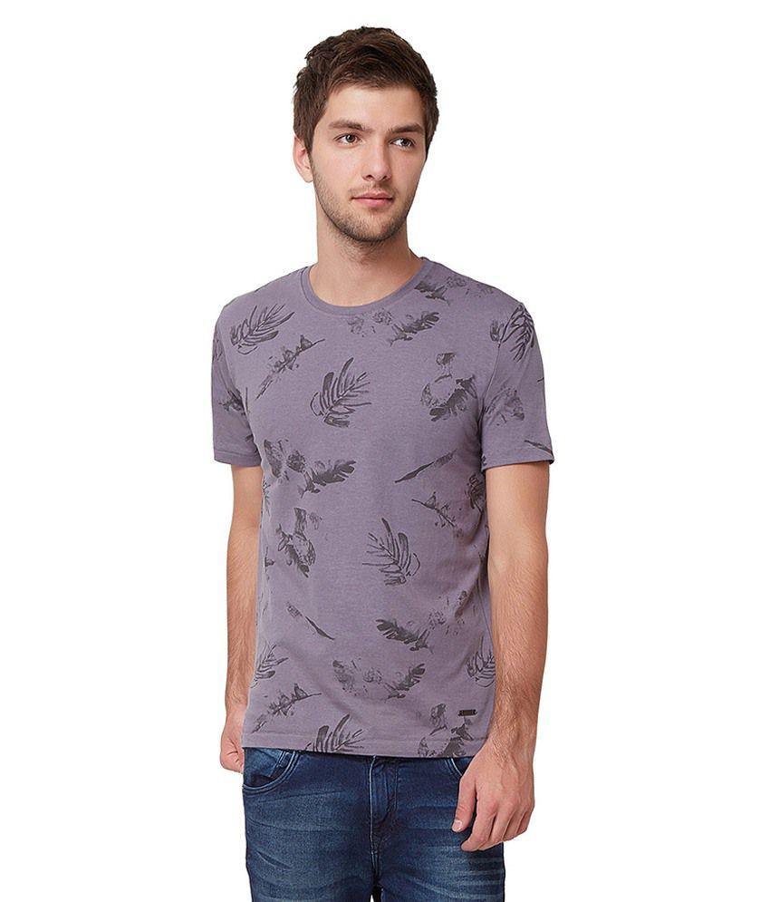Elaborado Grey Round T Shirts