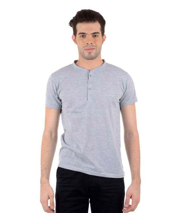 Gallop Grey Henley T Shirts
