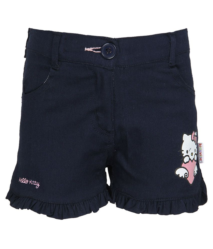 Hello Kitty Navy Printed Shorts