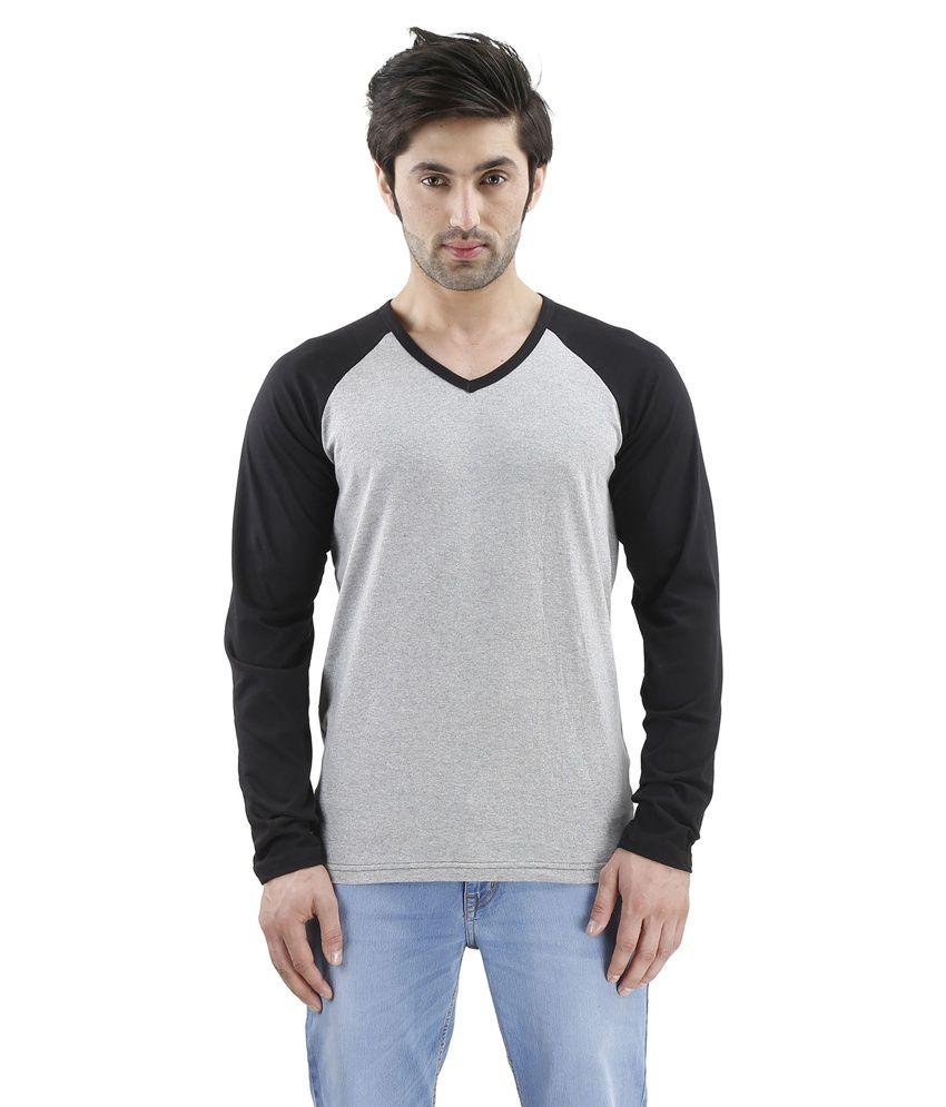 Inkovy Grey V-Neck T Shirts