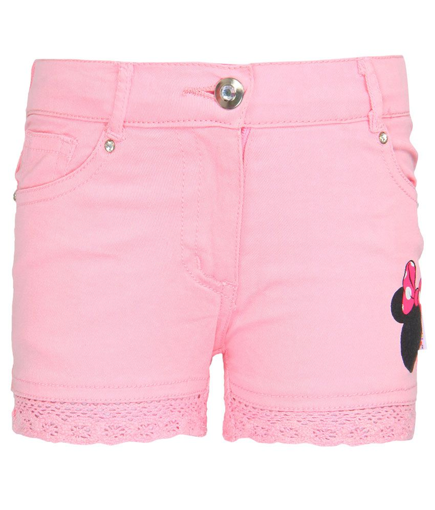 Mickey & Friends Pink Printed Shorts