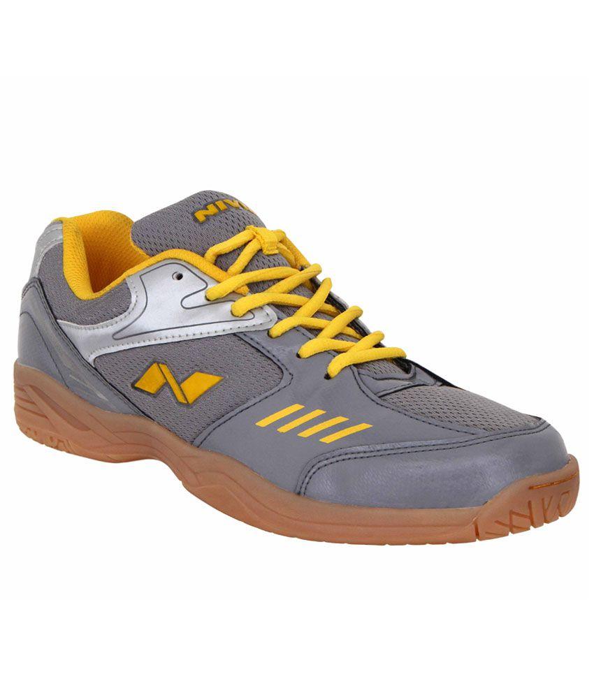nivia hy court gray badminton sports shoes buy at