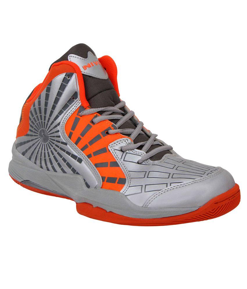 nivia phantom orange basketball sports shoes buy