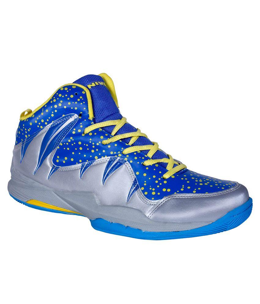 nivia warrior i blue basketball sports shoes buy
