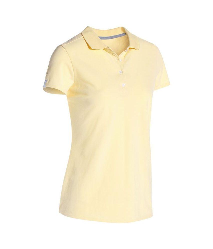 Inesis Beige Women's Polo T Shirt By Decathlon