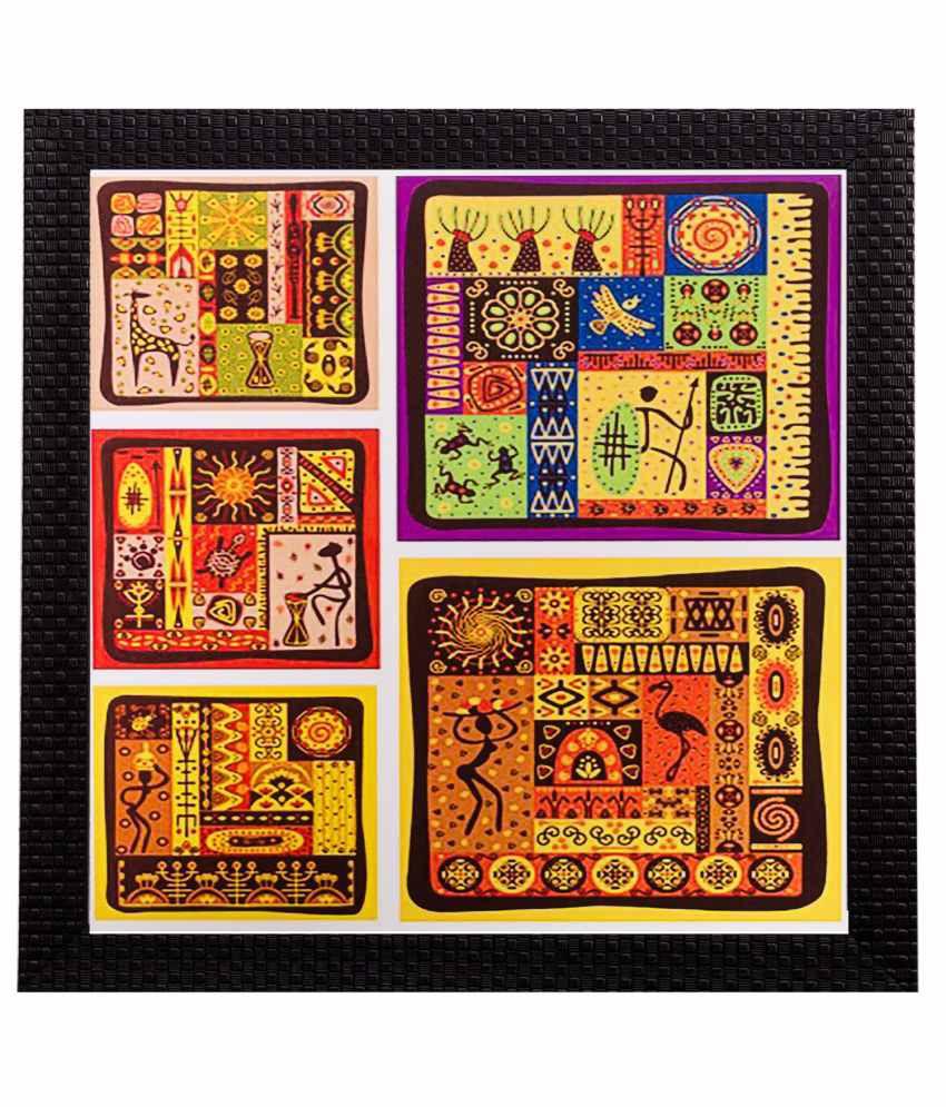 eCraftIndia Abstract Matt Textured Framed UV Art Print