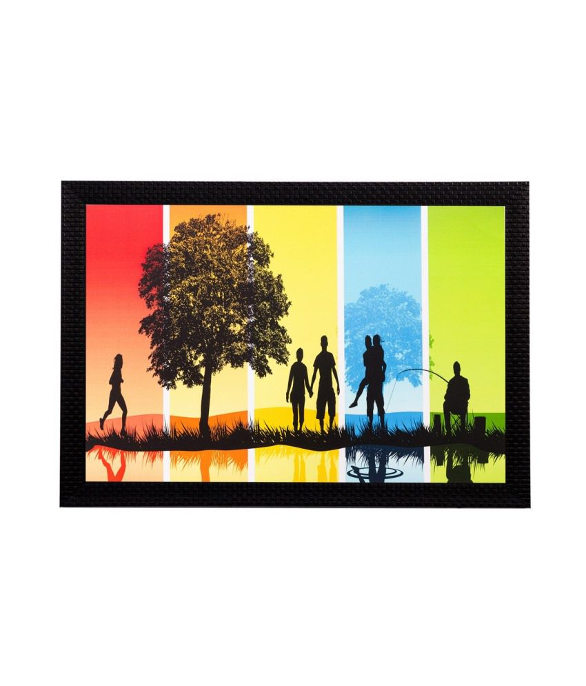 eCraftIndia Abstract Still Matt Textured Framed UV Art Print