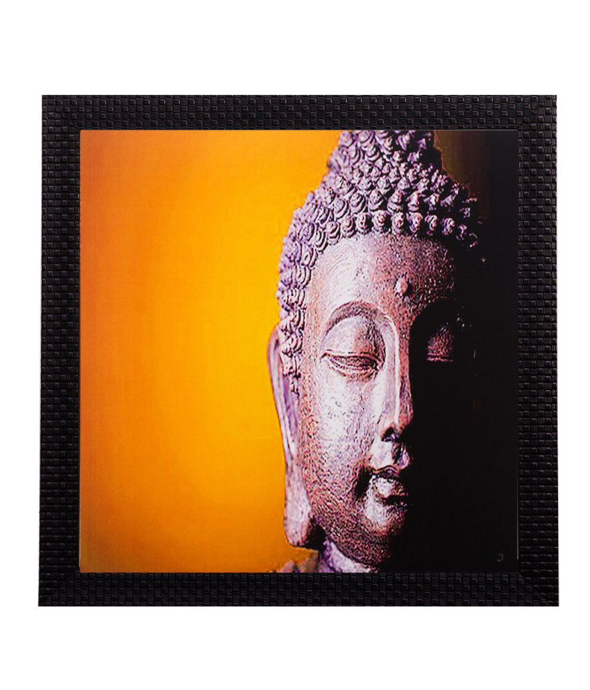 eCraftIndia Meditating Buddha Matt Textured Framed UV Art Print