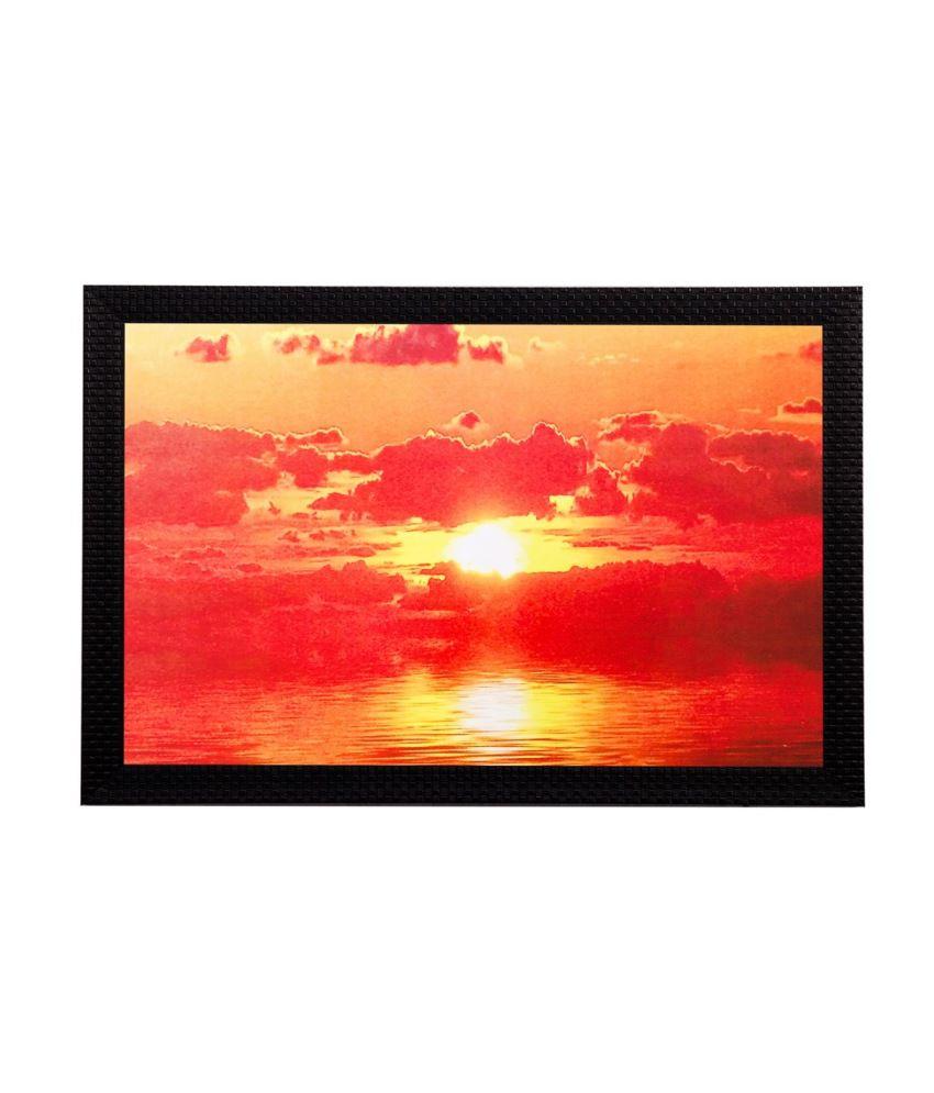 eCraftIndia Sunset View Matt Textured Framed UV Art Print