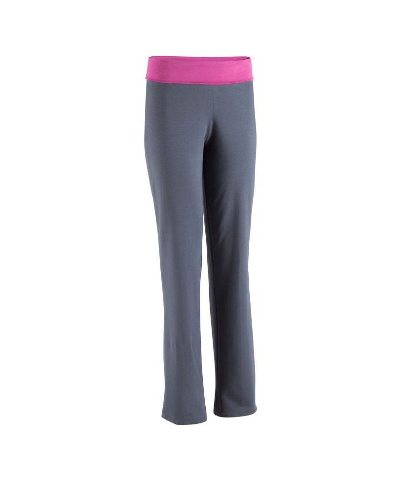 DOMYOS Basic Women's Organic Yoga Trousers By Decathlon