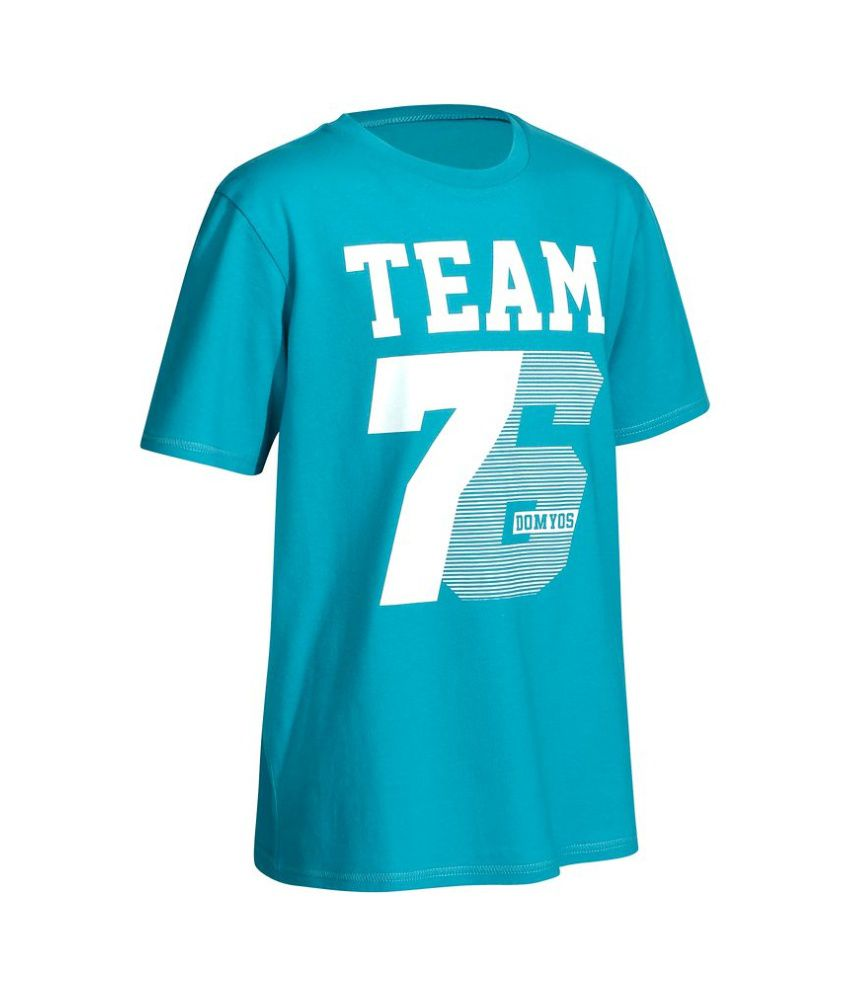 DOMYOS Comfort Print Boys Fitness T-Shirt By Decathlon