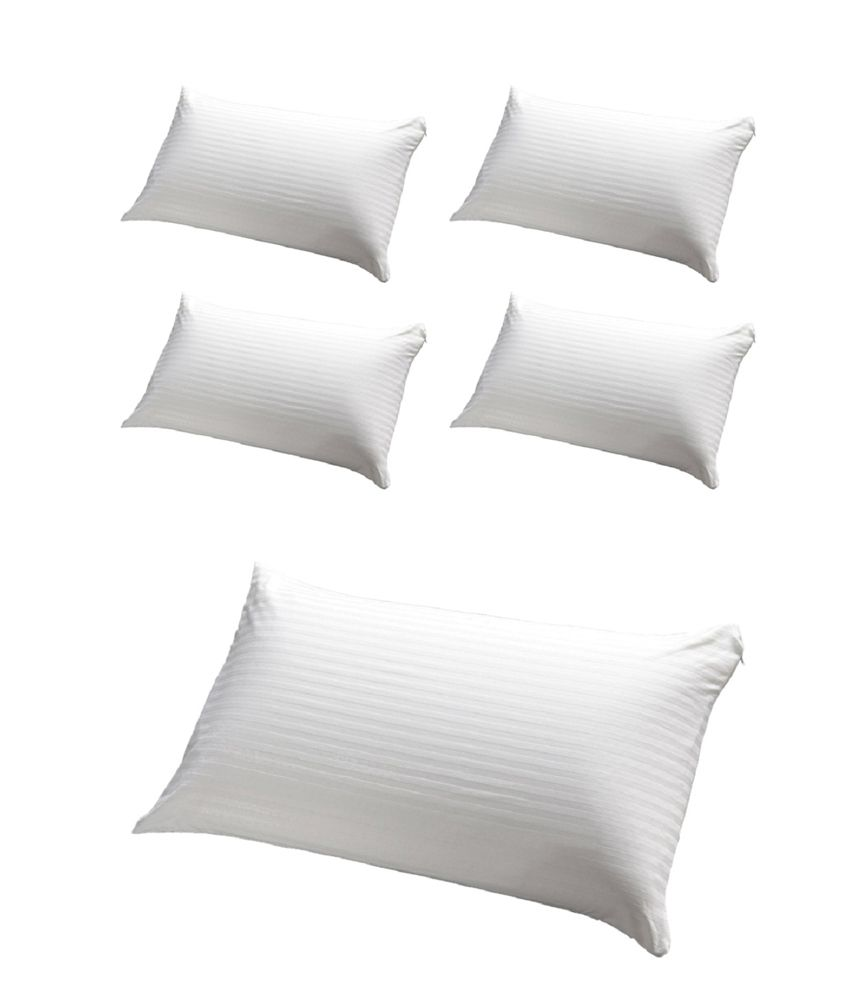 JDX White Polyester Pillows Pack Of 5