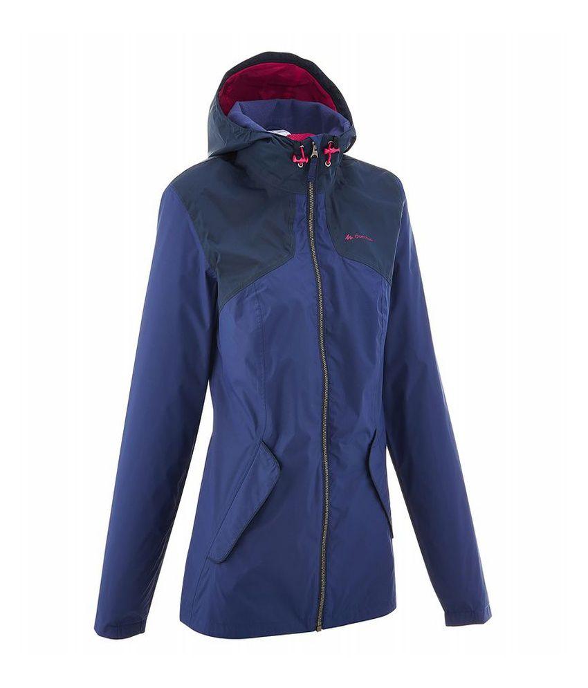 QUECHUA Arpenaz 100 Women's Hiking Rain Jacket By Decathlon