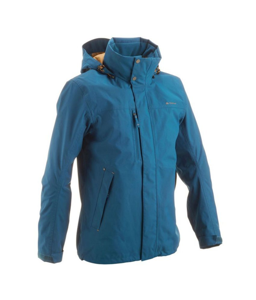 QUECHUA Arpenaz 300 Men's Hiking Rain Jacket By Decathlon