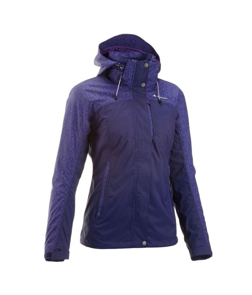 QUECHUA Arpenaz 300 Women's Hiking Rain Jacket By Decathlon