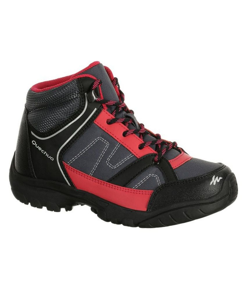 6cab70ab53b QUECHUA Arpenaz 50 Mid Kids Hiking Boots By Decathlon