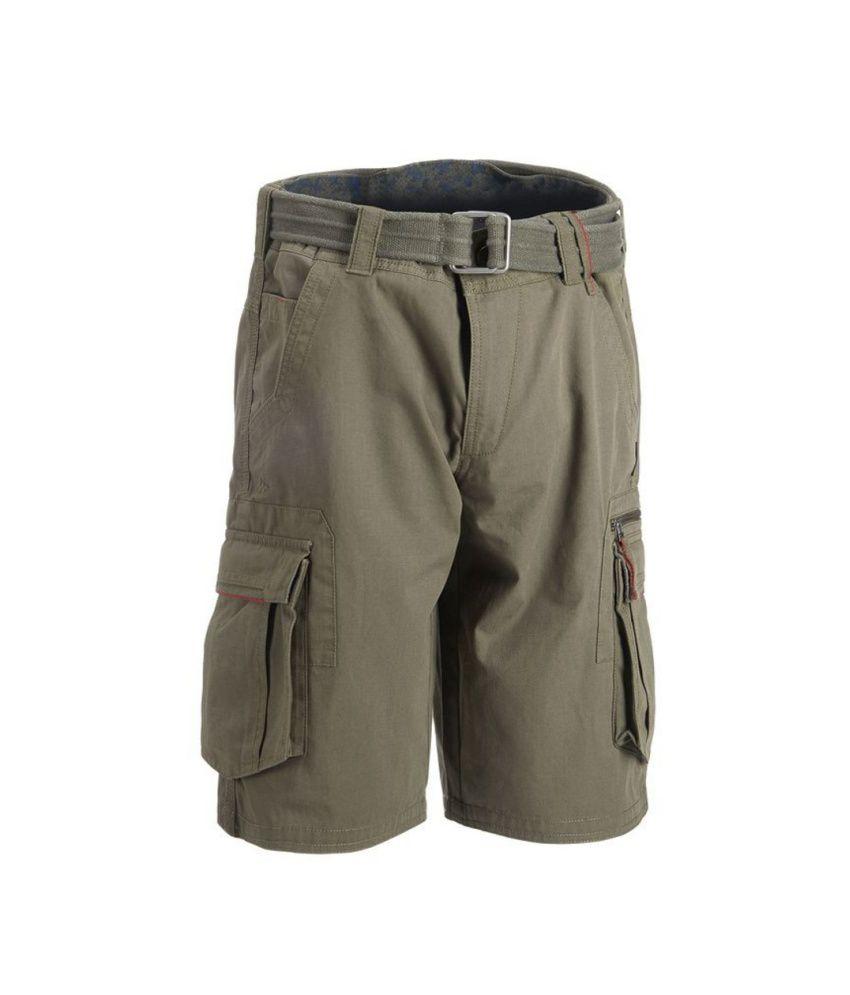 QUECHUA Arpenaz 500 Men's Hiking Cargo Shorts By Decathlon