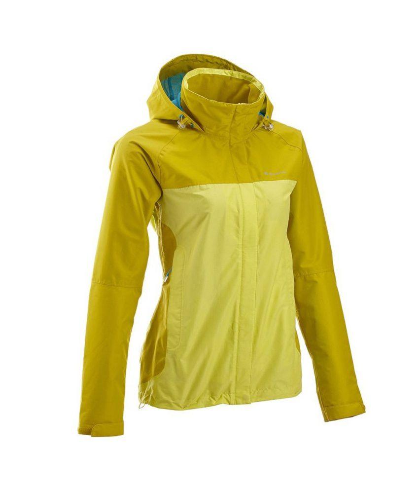 QUECHUA Forclaz 100 Women's Hiking Rain Jacket By Decathlon
