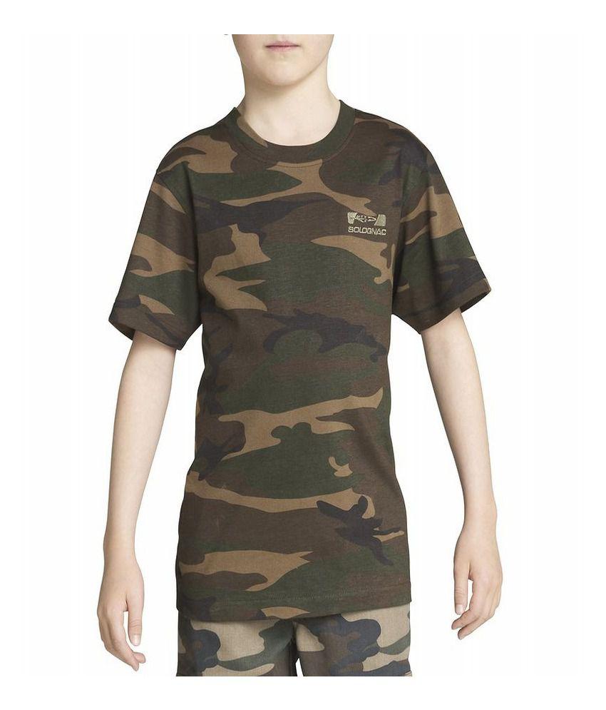 Solognac T-Shirt Steppe 100 Camo Jr By Decathlon