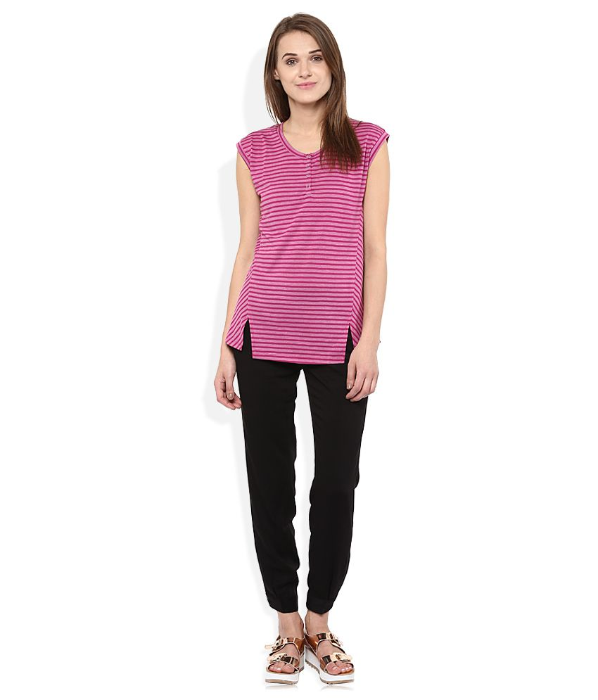 fa8456697b9 Madame Pink Round Neck Top - Buy Madame Pink Round Neck Top Online ...