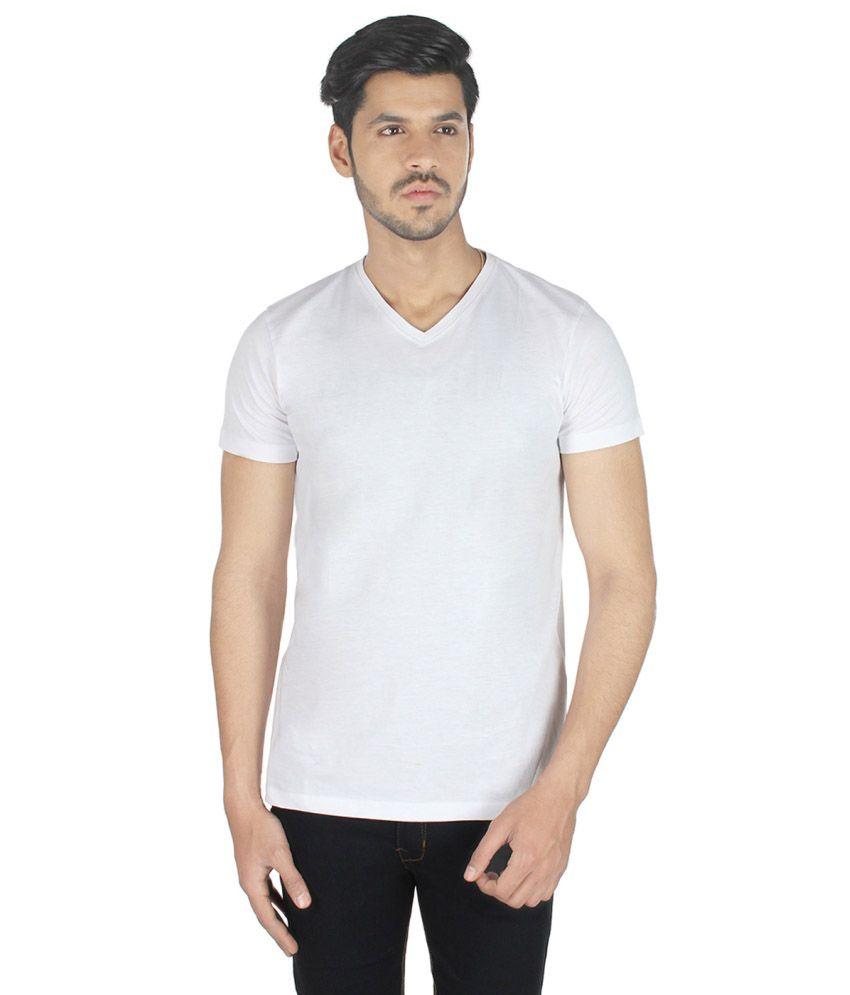 Tamnoon White V-Neck T Shirts