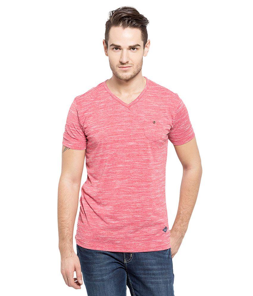 Status Quo Red Half Sleeves T-Shirt