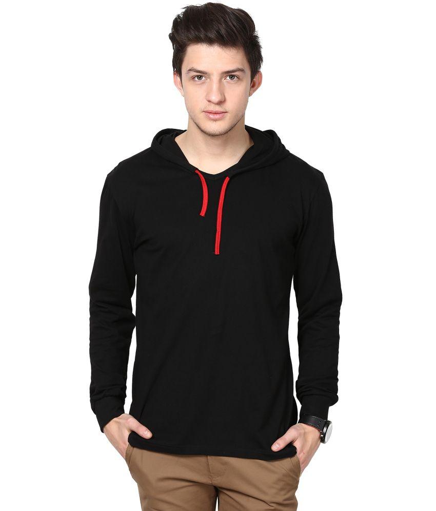 Inkovy Black Hooded T-Shirt