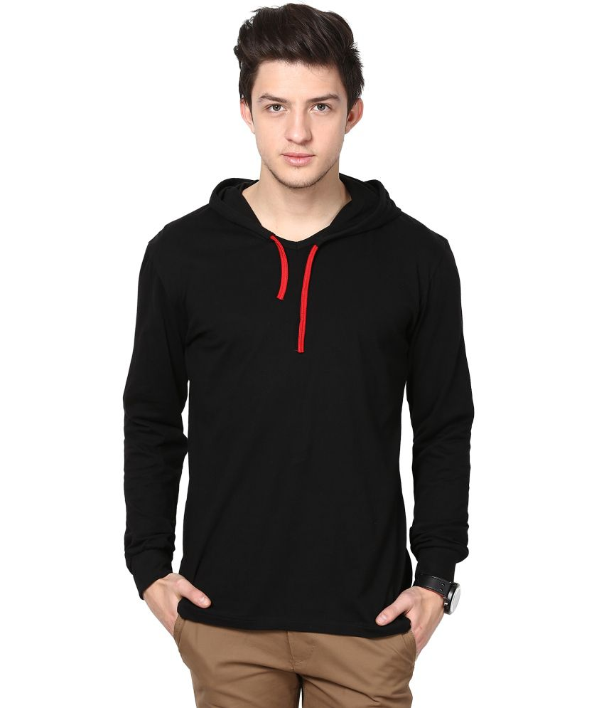 Inkovy Black Hooded T Shirts No