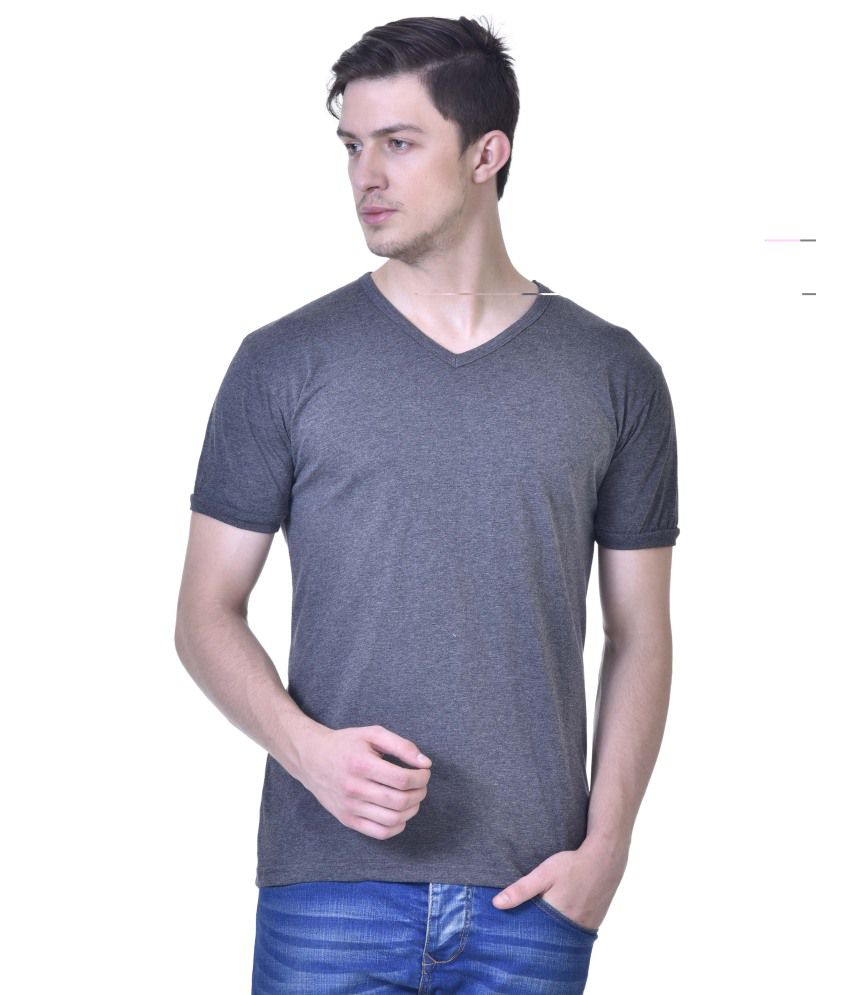 Inkovy Grey V-Neck T Shirts No