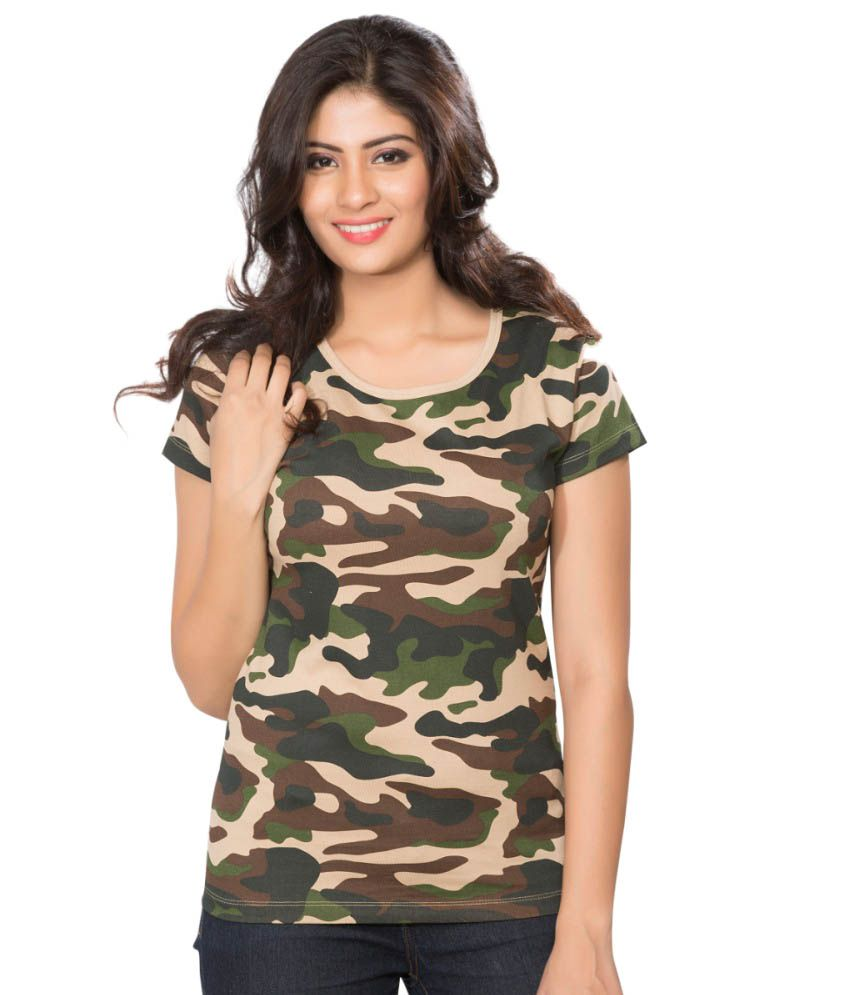 Clifton Brown Army T-shirt for Women