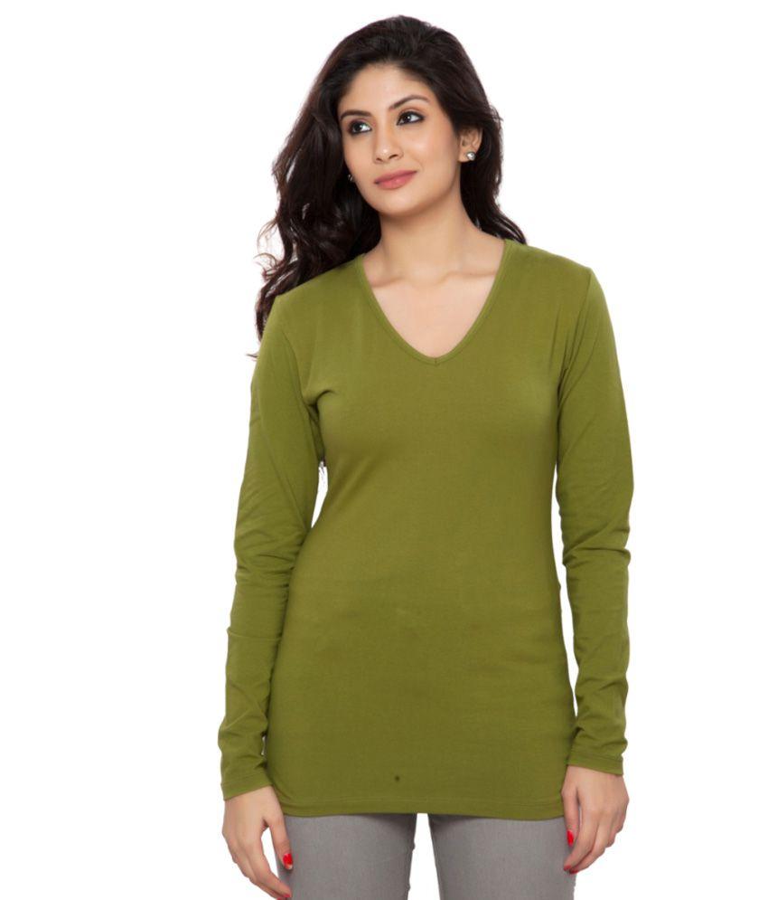 Clifton Green Full Sleeves Tees for Women