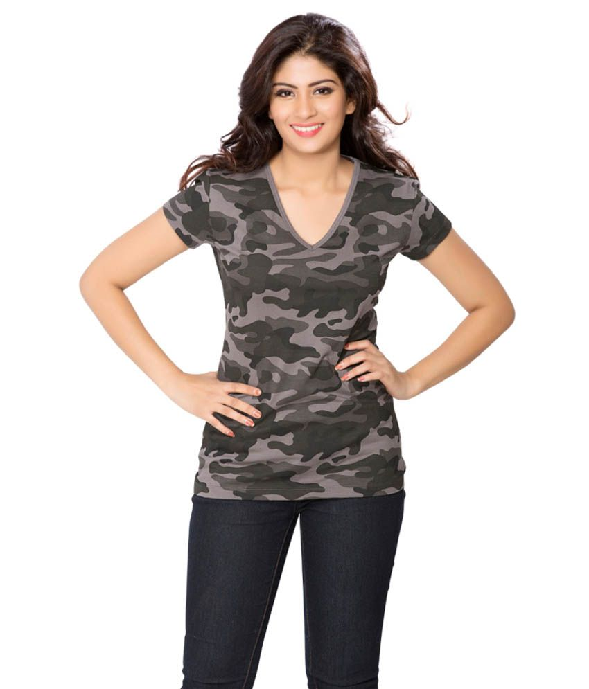Clifton Grey Army T-shirt for Women
