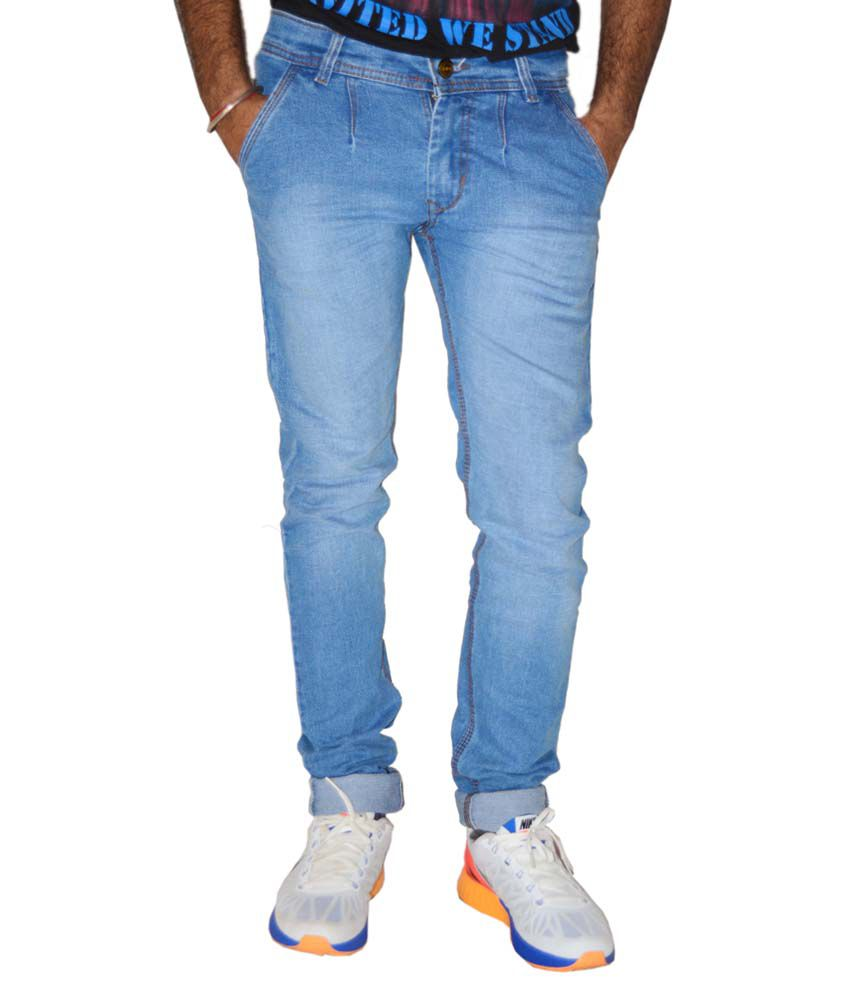 Portbury Fashions Blue Slim Fit Jeans