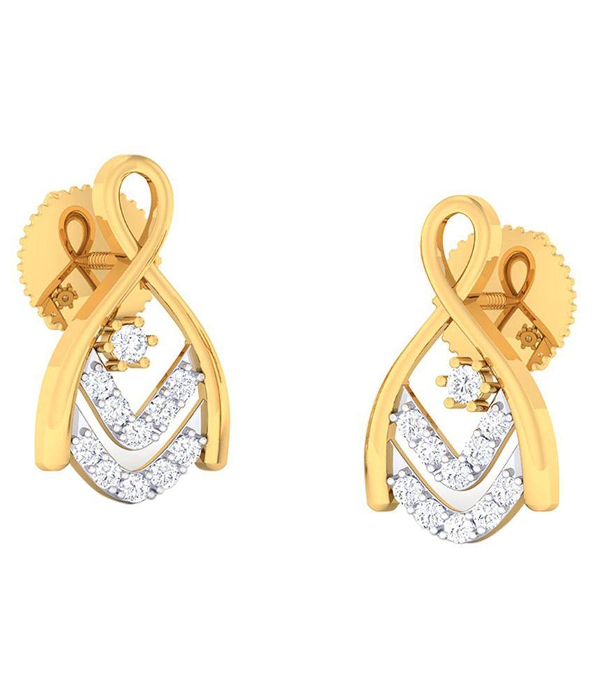 Abhijewels 18kt Gold Diamond Earrings