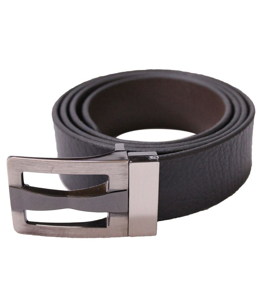 U.S. Polo Assn. Black Leather Belt For Men