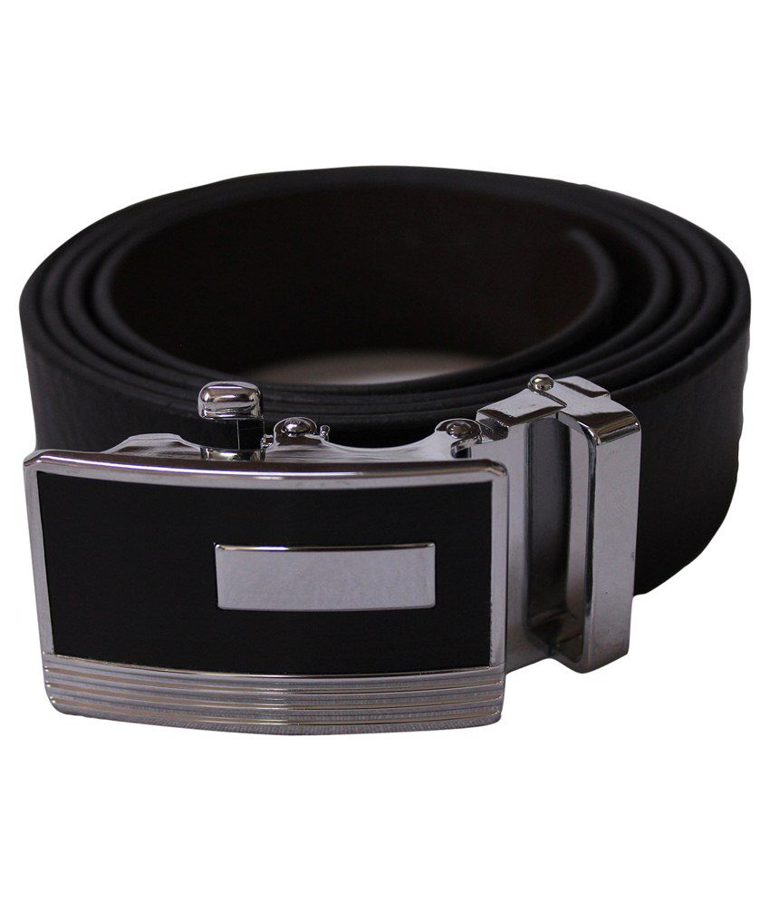U.S. Polo Assn. Black Leather Belt For Men