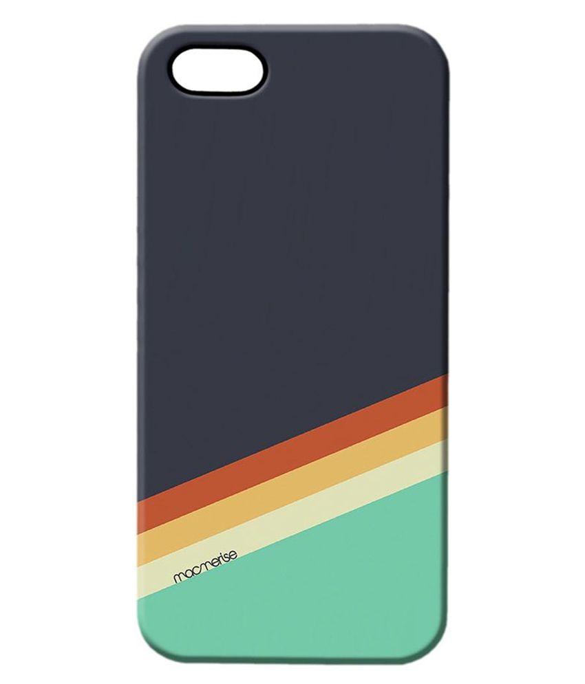 best service 57e98 956ed Macmerise Slope Stripes Grey Back Cover For Apple iPhone 5/5S-Multicolour