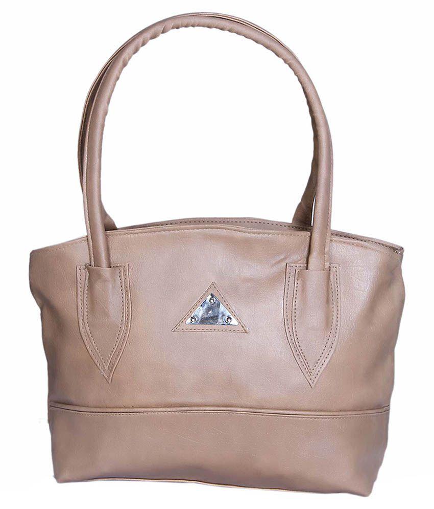 NRS Beige Synthetic Shoulder Bag