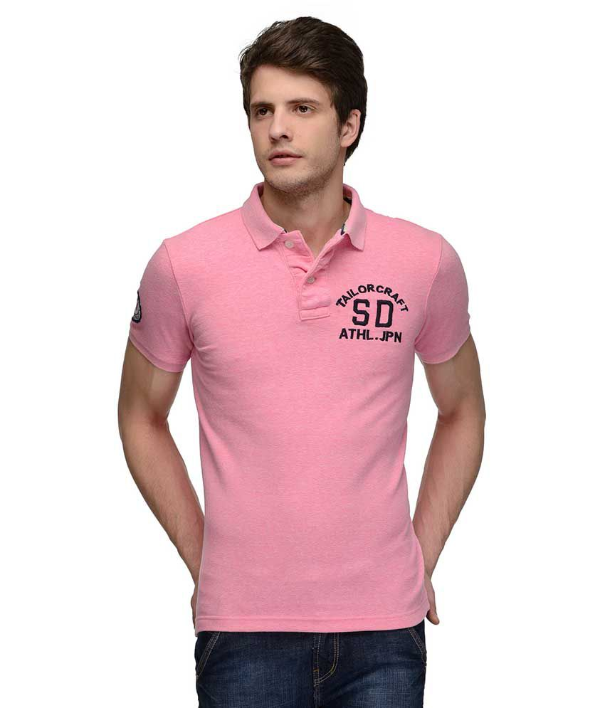 Tailor Craft Pink Round T Shirts