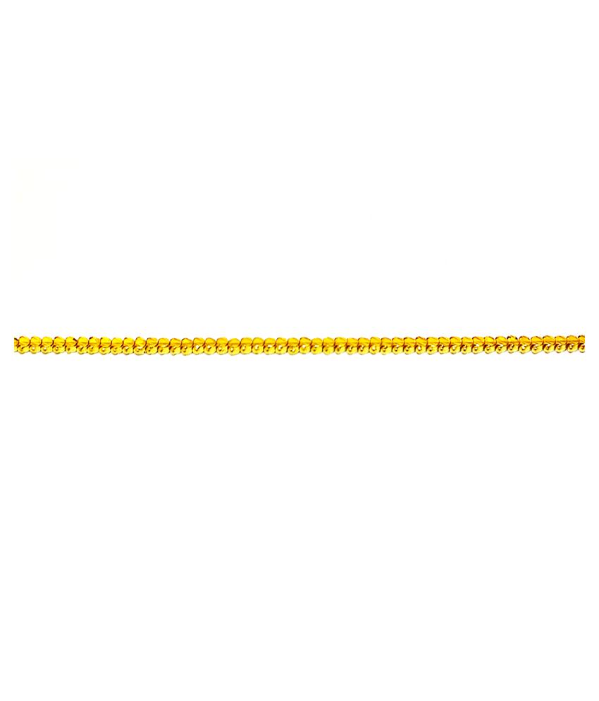 Ashree 22k 22ct 916 BIS Hallmark Brand New Pure Gold Short Fancy Hollow Chain For Men