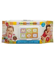 Mee Mee Baby Gentle Hand & Mouth Wipes_80 Pcs