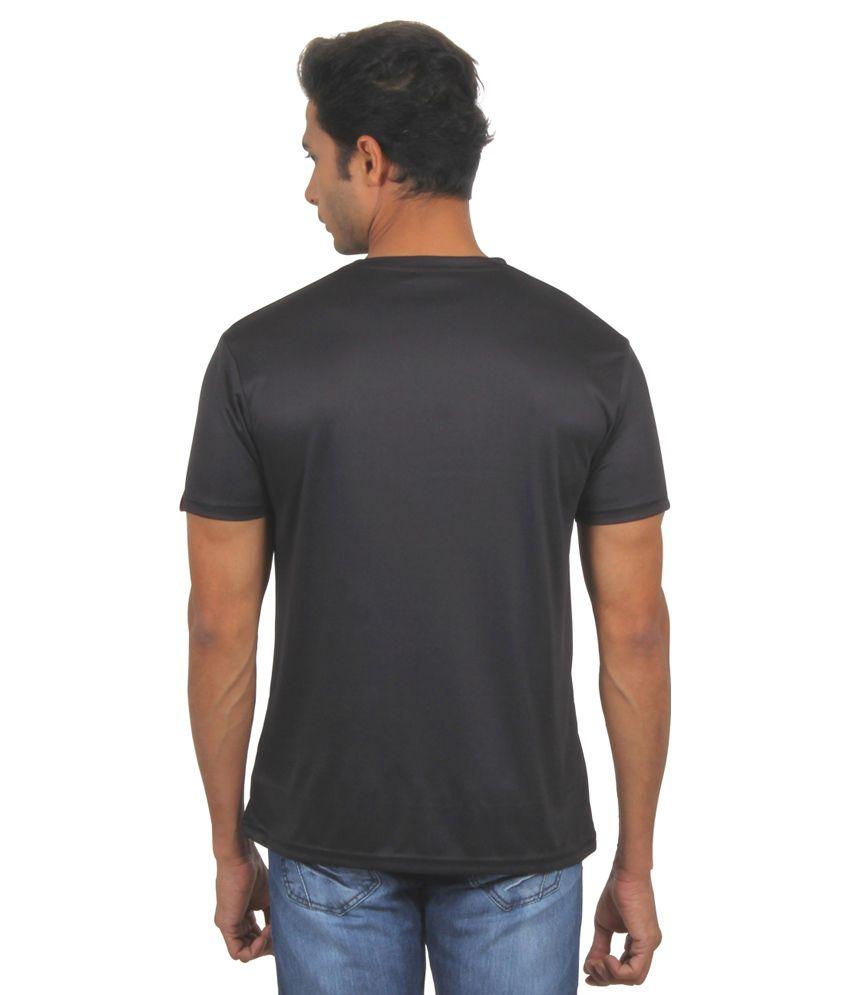 FanIdeaz Black Round T Shirts