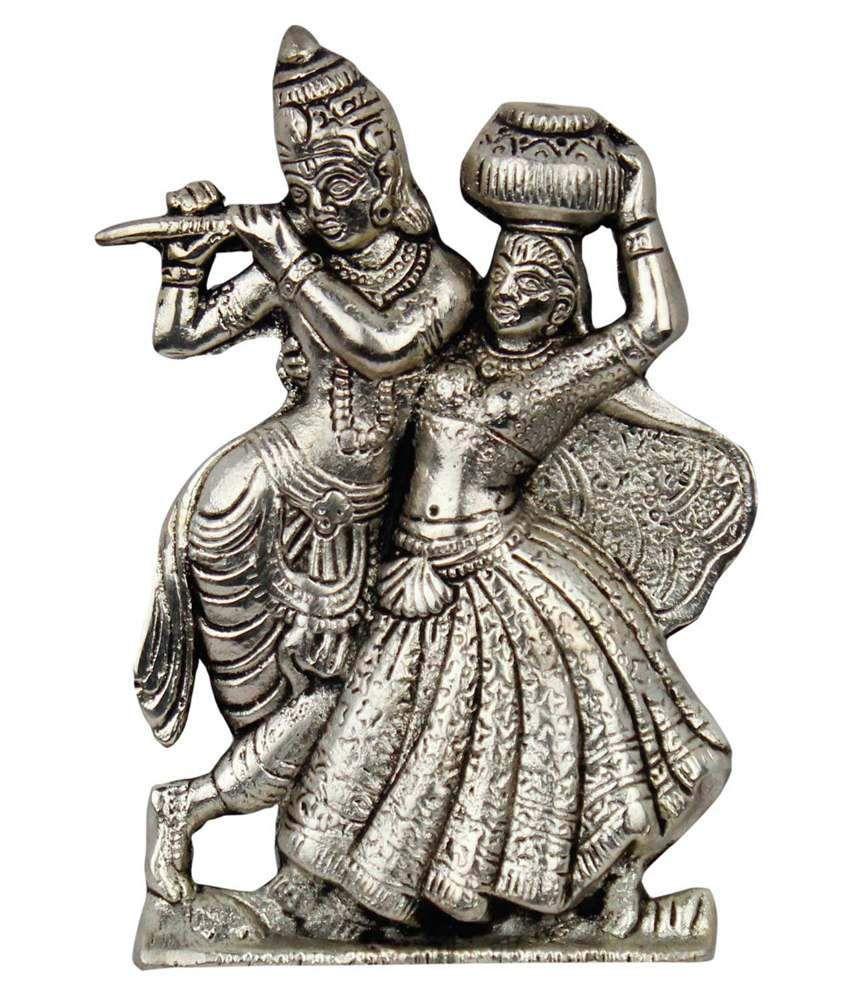 Jaipur Raga Silver White Metal Krishna Idol
