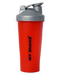 My Shake Red  Classic Shaker With Blender Ball Bottle-600Ml
