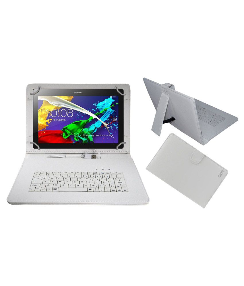 finest selection 62193 58b6a Acm USB Keyboard Case For Lenovo Tab 2 A10-70 Cover - White