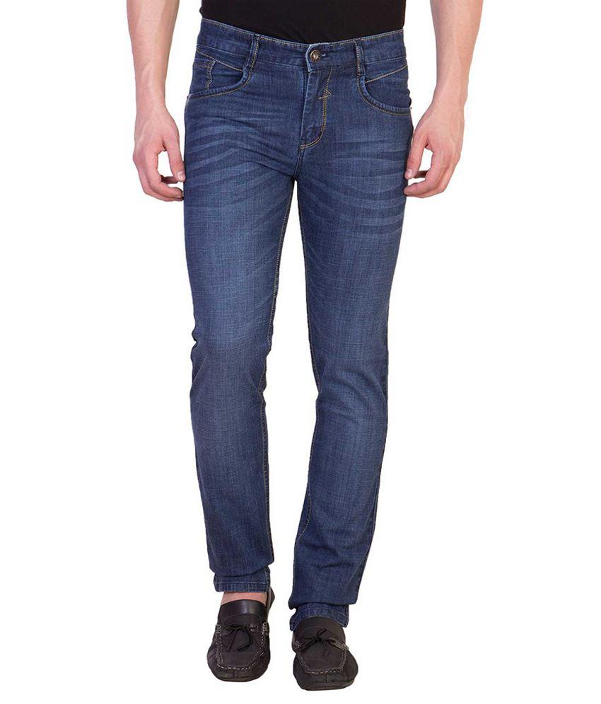 R4U Denim Factory Blue Slim Fit Jeans